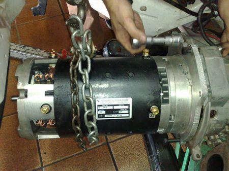 motor eletrico instalado no gol geração 4 do Elifas gurgel